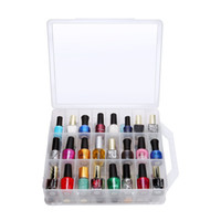 Wholesale Storage Boxes For Bottles - Universal Nail Polish Storage Case For 48 Polish Bottles With Adjustable Compartments Flexible Nail Polish Holder Box F0346