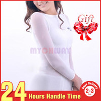 Wholesale Nylon Rollers - Sale White Nylon + Spandex Roller Massage Vaccum Body Slimming Massage Suit For Health Care With L&M Size
