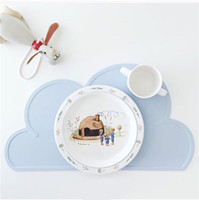Wholesale Baby Silicone Placemat - Clouds silicone contracted plates baby chuck table mat Placemat Table Dining Mat irregularly shaped place mat 419
