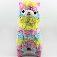 "Wholesale Japanese Toys Sale - Hot Sale 13.5"" 35cm Rainbow Alpaca Vicugna Plush Toys Kawaii Alpacasso Stuffed Toys Japanese Stuffed Animals Doll Alpaca Plush Toys"