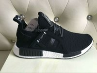 Wholesale Dhl Men Shoes - Free DHL NMD x MASTERMIND Top Best Quality REAL BOOST Bottom With Nipples NMD_XR1 MMJ BA7926 Men Running Shoes Box Receipt Keychain
