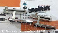 Wholesale Fader Mixer - Wholesale-free shipping 10pcs Black 4.5 cm long double mixer fader potentiometer B10K X2