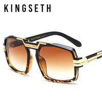 Wholesale Mixed Acrylic - KINGSETH 2017 New Arrival High Quality Brand Designer Big Square Women Sunglasses Fashion Classic Men Sun Glasses Unisex Eyewear UV400