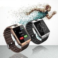 Wholesale Smartwatch Latest DZ09 Bluetooth Smart Watch Support SIM Card For Apple Samsung IOS Android Cell phone inch smartwatches