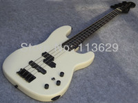 Wholesale Rosewood Neck - Custom 4 Strings Rare Duff Mckagan Precision Bass Pearl White Electric Bass Black Headstock & Black Hardware,Skull Neck Plate Top Selling