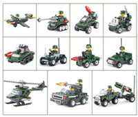 Wholesale Military Toys For Kids - Military city Series building blocks Helicopter Tank Building Blocks Best Kids Xmas Gifts City Construction Blocks Toy for Children Gift