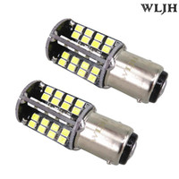 Wholesale universal tail lights - WLJH Canbus 10W P21 5W 1157 2057 7528 BAY15D Car LED Light Bulbs Automobiles Tail Reverse DRL Turn Signal Bulbs Stop Break Lamp