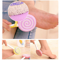 Wholesale Foot Files - Foot Clean Scruber Hard Skin Callus Remover Scrub Pumice Stone Cute Lollipop Pedicure Foot File Scraper Scrubber Pedicure tool