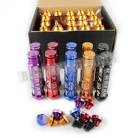 Wholesale Tuner Nuts Extended - M12x1.25 K Breaks Alloy Aluminum 90MM Wheel Lug Nut With Crown Caps Extended Tuner Wheels Rims Caps Lug Nuts RS-LN035