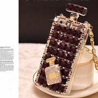 Wholesale Diamante Iphone Covers - tpu case Luxury 3D Diamond Case TPU Rhinestone Bling Cover Bottle Diamante Fundas Coque Capa Para for iPhone 6 6s 7 plus