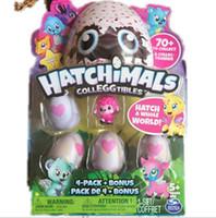 Wholesale Mini Pops Kids - Magic Hatchimals Colleggitble 4 egg+1 bonus set Pop Figures Kids Novelty Baby Mini Egg Toys Chritmas Gifts VS Feisty Pets LOL SURPRISE DOLL