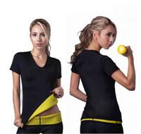 Wholesale Neoprene Slimming Shorts - New Women Body Shapers T-shirt Shapers Stretch Neoprene Slimming Vest Body Shaper Control Vest Tops Shirt S-3XL QP102