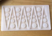 Wholesale Wholesale Muffin Pans - Triangle Chocolate Mold Cake Topper Decorating DIY 3D Silicone Candy Fondant Chocolate Mould DIY Baking Tool Decor Muffin Pan