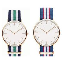Wholesale Wholesale Wooden Couple - AAA Quqlity D W Watch Luxury Top Brand Daniel Women Men watches Leather Strap Gold Dial Couple Quartz Wristwatch