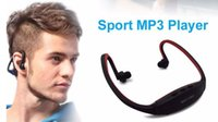 Wholesale sport mp3 player headphone 8gb resale online - Sport MP3 Player Wireless Headset Headphones Music Player Neckband Headset Support Micro SD TF Card FM Radio