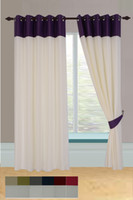 Wholesale joint voile lined ring top curtain Upper shading Customizable