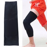Wholesale Knee Padded Tights - Wholesale- High Quality knie ondersteuning pads ademend basketball sport kneepads shank honeycomb pad bumper tight knee let leg guard