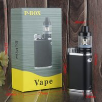 Single p silicon - New Design Vape Mechanical P Box Mod W Battery Cell Sub ohm Tank PK Eleaf Istick Pico Vaporizer Pen Starter Kit