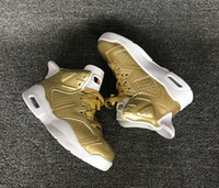 Wholesale Gold Shoes For Girls - new Children's Basketball Shoes Cheap Kids Retro 6 Metallic Gold Sports Shoes Boys Girls Oreo Black Infrared Athletic Sneakers Kids For Sale