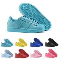 Wholesale Iridescent Colors - 2017 Cheap Online14 Colors Superstar White Hologram Iridescent Junior Superstars Sneakers Super Star Women Men Sport Running Shoes EUR36-45