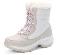 Wholesale Platform Shoes 41 - 2017 women snow boots winter warm boots thick bottom platform waterproof ankle boots for women thick fur cotton shoes size 35-41
