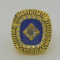Wholesale Custom 18k Gold Ring - 1988 LA Dodgers World Series Championship Ring, Custom Gibson Championship Sports Rings