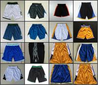 Wholesale Golden Pants - Golden State Basketball Shorts Men's Timberwolves Shorts Sweatpants Teams Classic Sportswear Warriors With Logo Basketball Pant, Free Shippi