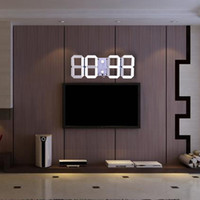 Wholesale Led Digital Wall Clocks - Multifunctional Remote Control Big LED Digital Wall Clock Brightness Adjustable Stopwatch Alarm Thermometer Countdown Calendar +B