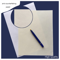 Wholesale Wholesale Copier Paper - 300 sheets anti-counterfeiting printinng paper 75% cotton 25% linen pass counterfeit pen test paper white ivory high quality hot sale in US
