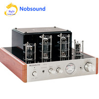 Wholesale Hifi Audio Amplifier - Nobsound MS-10D Tube Amplifier Hifi Stereo Audio Power Amplifier 25W*2 Vaccum Tube AMP and Headphone support 110V or 220V