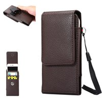 Wholesale Horizontal Leather Case - Universal Wallet PU Leather Horizontal Holster Case Cover Pouch With Belt Clip For Apple Iphone 5 6 7 Plus Samsung S7 Note 5