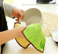 Wholesale Household Dish Cloths - Hot Sale Bamboo Fiber Dish Towel Dishcloth Cleaning Cloths Household Towels Cloth Random Multi Purpose RTC105