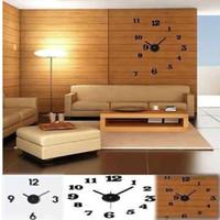 saat numaraları toptan satış-Toptan-ücretsiz kargo yeni Ücretsiz Kargo DIY Saat Kendinden Yapışkanlı Çıkartması Modern Duvar Rakam Numarası Odası İç Dekorasyon Saat