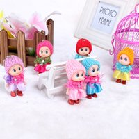 Wholesale Wholesale Month Figurines - The new 2016 genuine original confused doll The clown doll mini mobile phone's accessories plush figurines
