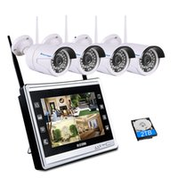 2 em 1 1080P Monitor LCD de 11 polegadas Sistema CCTV sem fio 2.0MP Interior / exterior IP Wifi Camera Security HD Kit de vigilância CCTV
