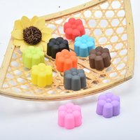 Wholesale cupcake silicone cake mould resale online - Mini CM Silicone Cupcake Lotus Cake Cup Non Toxic And Tasteless Multi Function Pudding Jelly Silicone Mould hl J