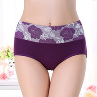 Wholesale Wholesale Panty Roses - New underwear for women cotton panties rose jacquard waist ladies bamboo panty fiber plus size underwear woman string briefs for women