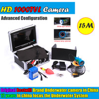 """Wholesale Underwater Infrared - Brand Bestwill Original 15M Fish Finder Underwater HD 1000TVL Fishing Video Camera 7"""" Color LCD White Infrared LED Free Sunvisor"""
