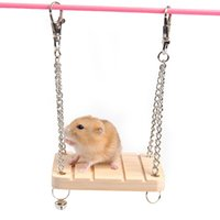 Wholesale bird wooden swing for sale - Group buy Wooden Hanging Swing Fun Toy For Pet Hamster Mouse Gerbil Rat Small Parrot Bird