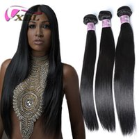 Wholesale Virgin Brazilian Remy 18 Inch - XBL Silky Straight Hair 3 4PCS Virgin Human Hair Extensions Cheaper Silky Straight Human Hair Bundles