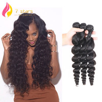 Wholesale Extention Human Virgin Hair - Brazilian Peruvian Indian Malaysian Mongolian 100% Unprocessed Virgin Human Hair Weft 3 Bundles Loose Wave Hair Extention Natural Color