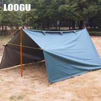 Venda por atacado- LOOGU 3.2x3M Silver Coating Anti UV Ultralight Sun Shelter Beach Tent Pergola Toldo Canopy Oxford pano Camping Mat