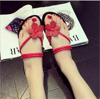 Wholesale Ladies Beaded Shoes Black - Hot Sale New Fashion Shoes & Accessories Women Sandals Beaded Ladies Flip Flops Bohemia Woman Shoes Comfort Beach Summer Flat Sandals