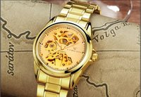 Wholesale Double Watches For Man - hot sale Luxury new fashion WRIST WATCH for MEN watch double face simple hollow out business automatic mechanical fashion style [Q079]