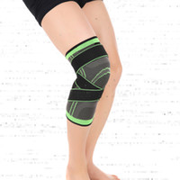 Wholesale Basketball Protective Pads - Wholesale- 3D weaving pressurization knee brace basketball tennis hiking cycling knee support professional protective sports knee pad