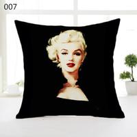 Wholesale Marilyn Monroe Throw - Marilyn Monroe Throw pillow case Classic Cushion Covers Home Decor Sofa Car Soft Comfortable 45*45cm