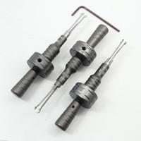 Wholesale adjustable lock pick for sale - Group buy Adjustable Cross Head Lock Quick Hand Picks Tubular Lock Pick Locksmith Tool Kit Set with Heads