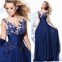 Blue Red Chiffon lange Abendkleid für Frauen Party tragen