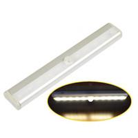 sensor de luz led inalámbrico al por mayor-Sensor de luz 10 LED de infrarrojos IR cajón de luz del sensor de movimiento inalámbrico IR Detector de Noche Armario luz del gabinete