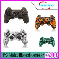 Wholesale ps controller bluetooth - 200pcs 2016 Colorful Wireless Bluetooth Game Controller for PS3 Free Shipping ZY-PS-05